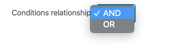 Conditional relationship options