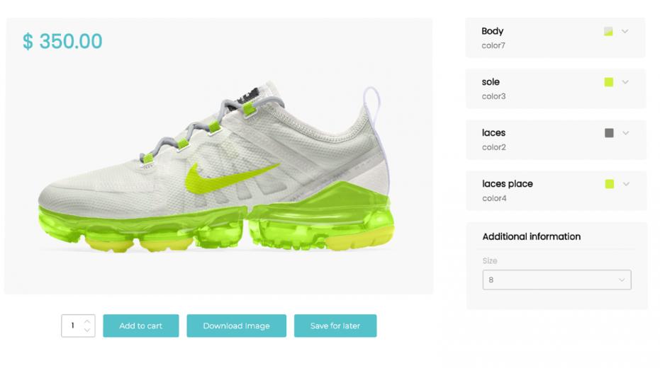 visual product customizer